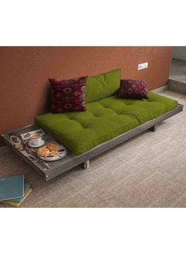 Woodesk Arin Masif Venge-Yeşil Renk Sedir Yeşil